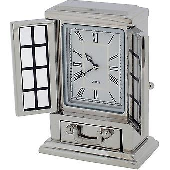Gift Time Products French Dresser Miniature Clock - Silver