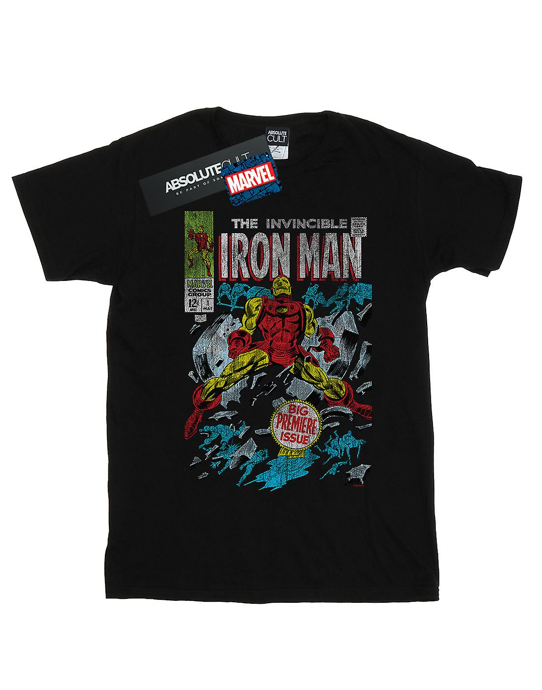 Marvel Women's Invincible Iron Man Distressed Issue One Boyfriend Fit T-Shirt