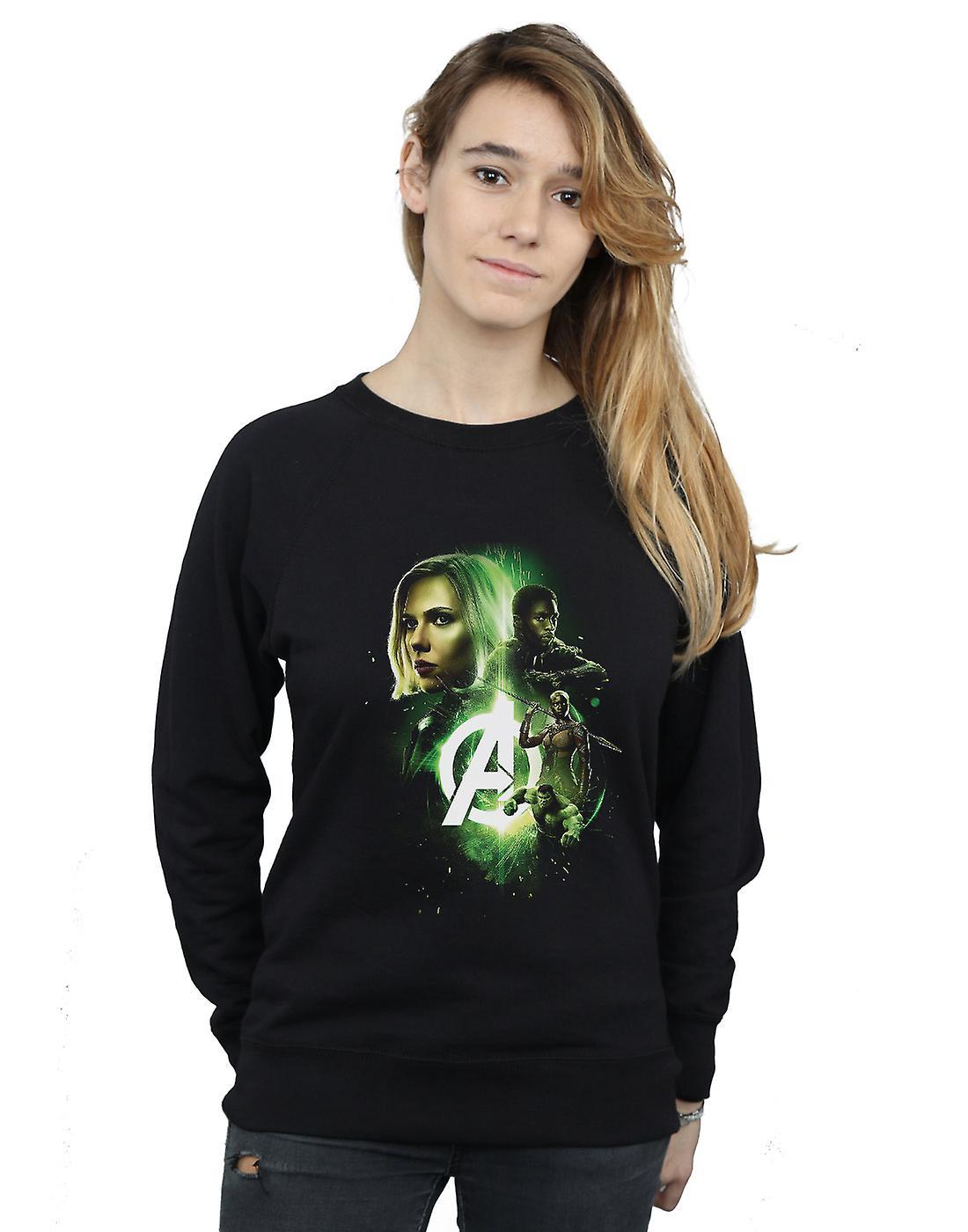 Marvel Women's Avengers Infinity War Widow Panther Team Up Sweatshirt