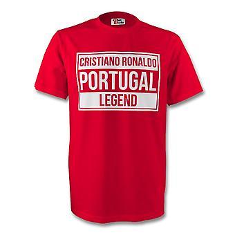Cristiano Ronaldo Portugal Legende Tee (rot)