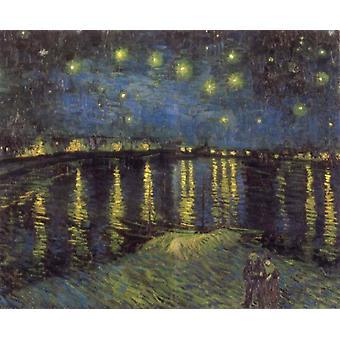 Nuit étoilée, Vincent Van Gogh, 50x40cm