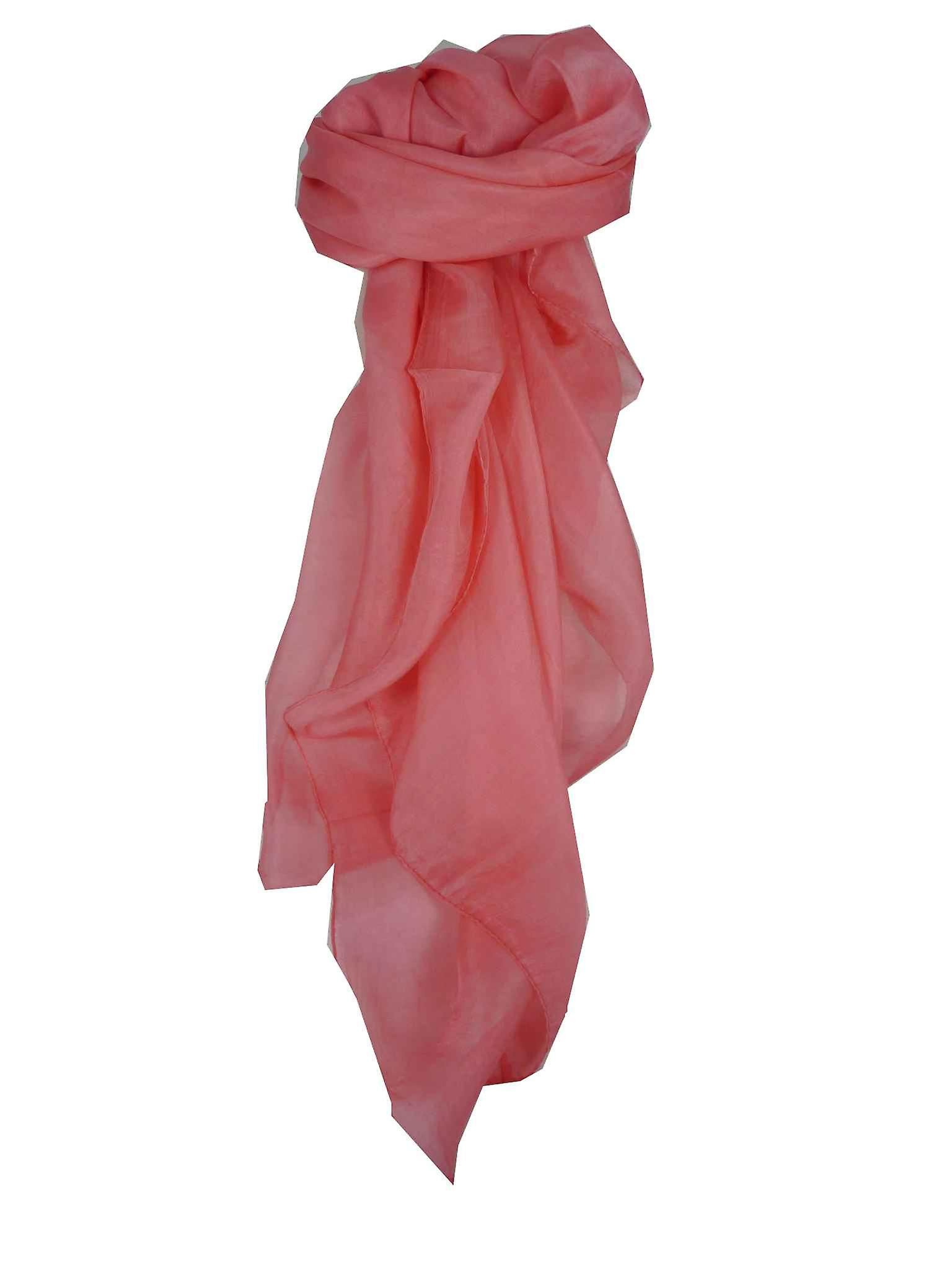 Mulberry Silk Hand Dyed Square Scarf Candy from Pashmina & Silk