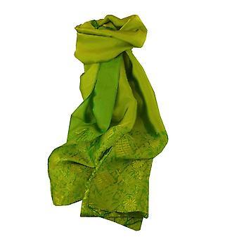 Vietnamese Silk Scarf Reversible Hoi-An Hoa-Lu Jade by Pashmina & Silk