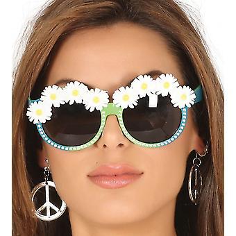 Occhiali Womens verde con le margherite costume accessorio