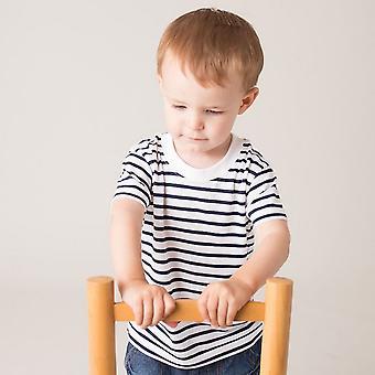 Larkwood Unisex Baby Short Sleeve Striped T-Shirt