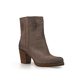 Car Shoe Kdt63h0b2f0308 Women's Grey Leather Ankle Boots