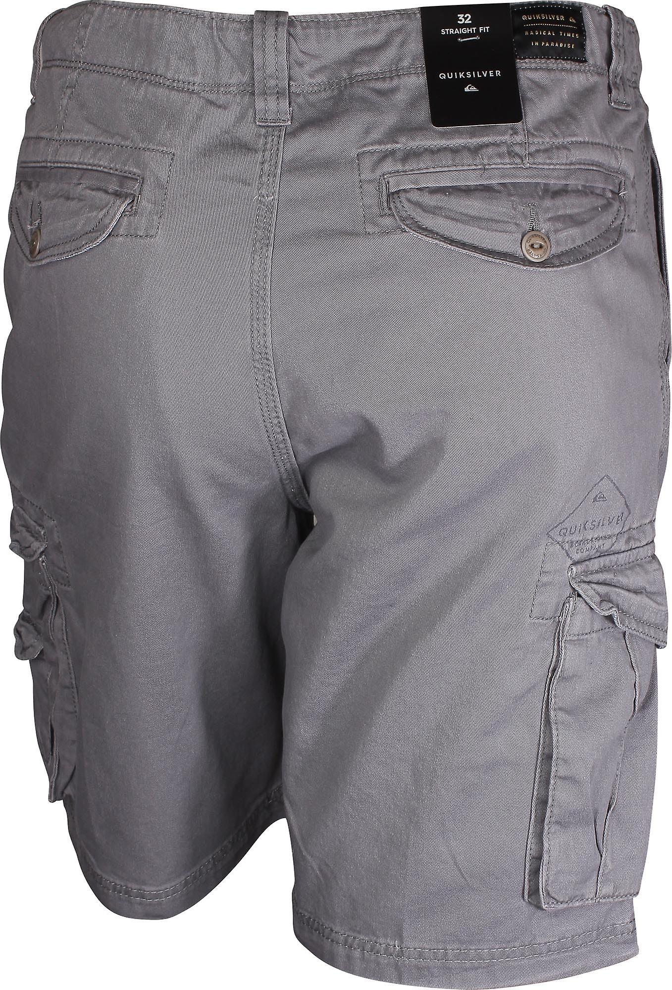 Quiksilver Mens avgjørende kamp Cargo Shorts - stille skyggen grå