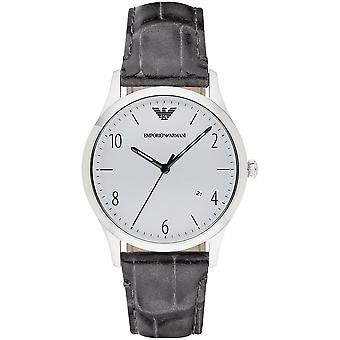 Emporio Armani Men's Classic Grey Leather Watch Ar1880