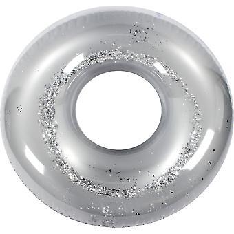 Metallic Silver Glitter Swim Ring