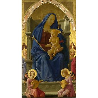 The Virgin and Child with Angels, MASACCIO, 60x33cm