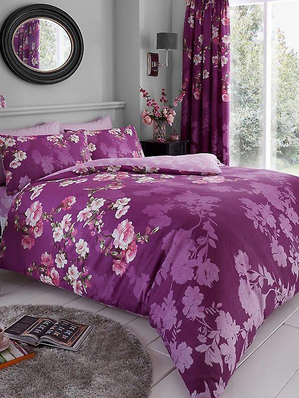 Roseanne Floral Duvet Cover and Pillowcase Set