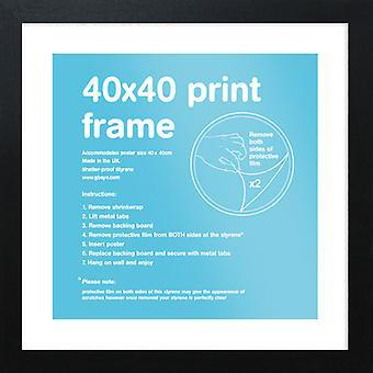 Eton musta runko 40x40cm juliste / tulostaa kehyksen