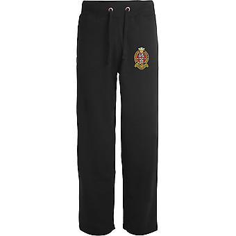 Prince of Wales Regimento próprio de Yorkshire PWRR-licenciado British Army bordados abertos hem Sweatpants/jogging Bottoms