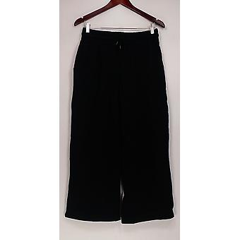 Anybody Cozy Knit French Terry Wide Leg Pants Black A302398