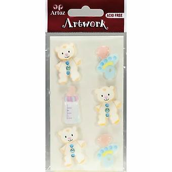 Baby Blue Craft Embellishment By Artoz