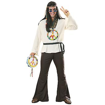 Groovin' Man Hippie 1970s 1960s Hippy Woodstock Groovy Adult Mens Costume