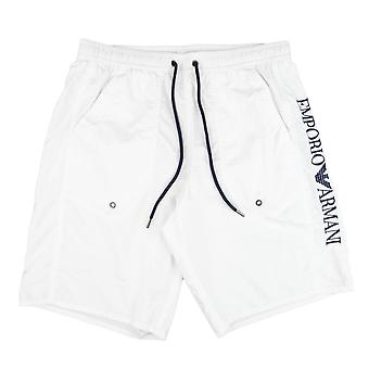 Emporio Armani Side Logo Swim Shorts White