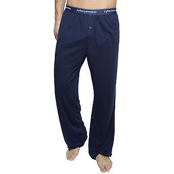 Cyberjammies 6404 män ' s Harper Navy Blue Cotton pyjamas byxa