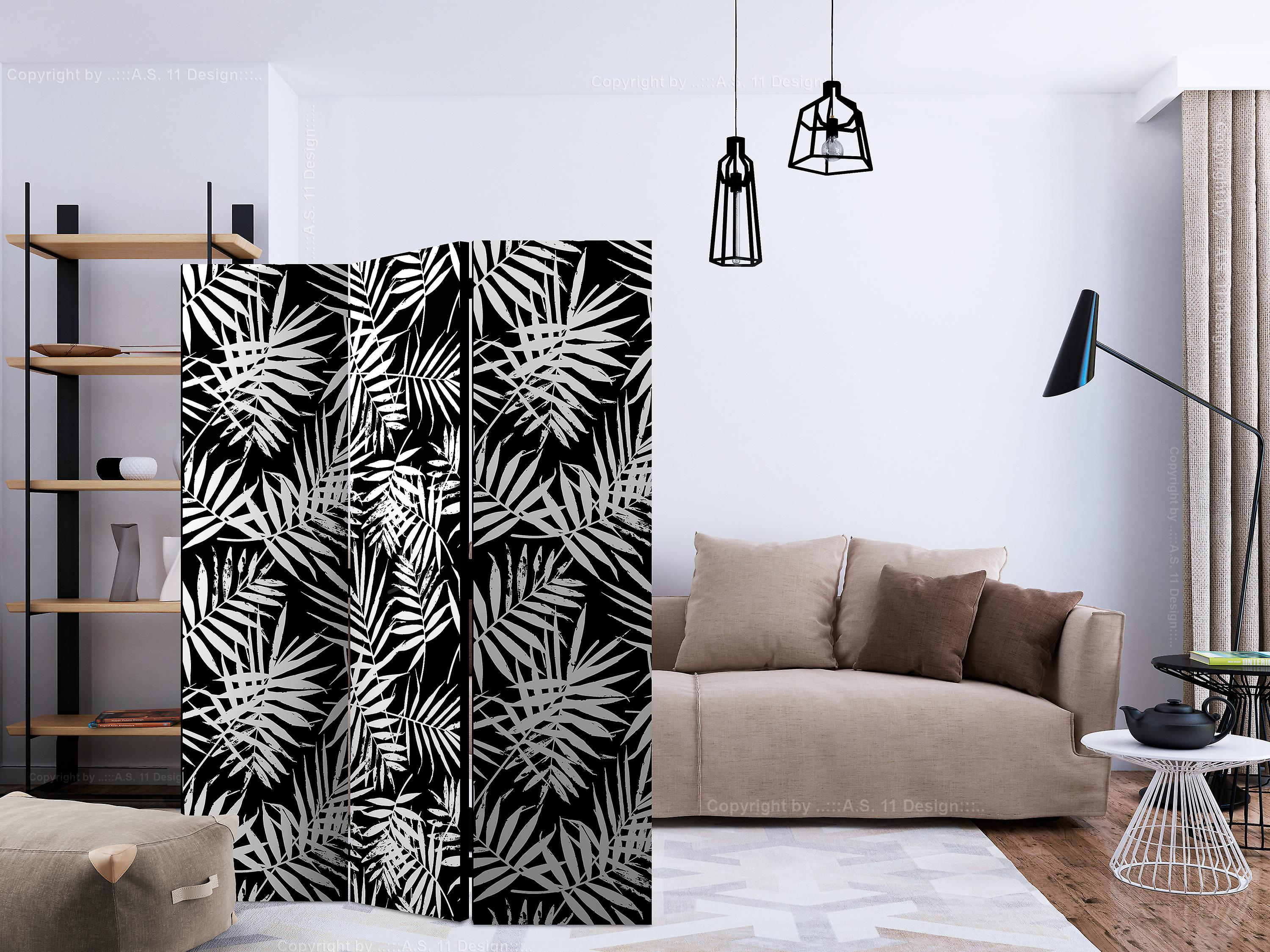 Paravent 3 volets - Black and White Jungle [Room Dividers]