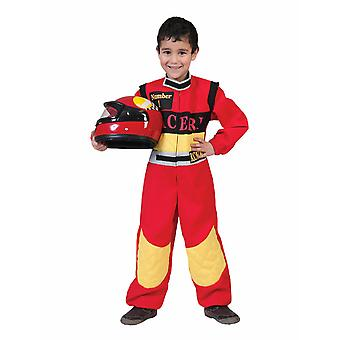 Racer Costume Racer Kids Global Costume Pour enfants Course Champ Carnival Carnival Motorsport