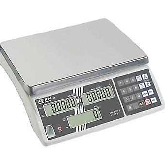 Kern Counting scales Weight range 3 kg Readability 0.2 g mains-powered, rechargeable Silver