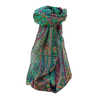 Maulbeerseide traditionelle lange Schal Shreya Smaragd von Pashmina & Seide
