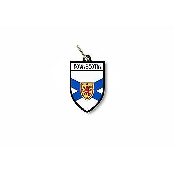 Llave clave puerta cle bandera colección escudo de armas canadá nueva escocia