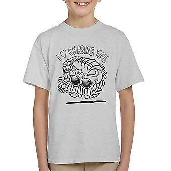 Grimmy Chasing Tail Kid's T-Shirt
