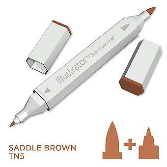 Illustrator door spectrum Noir één pen-zadel bruin