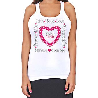 Junior's Dri Fit Think Pink Breast Cancer Support T-Back Tank Top
