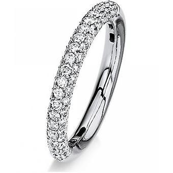 Anillo de diamantes - oro blanco 18K 750 - 0.83 ct.
