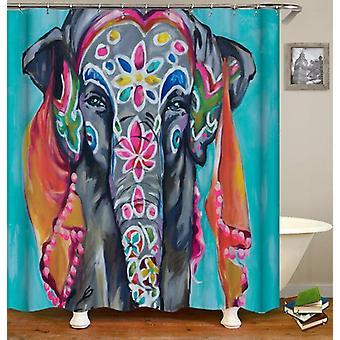 Colorful Indian Sari Elephant Shower Curtain