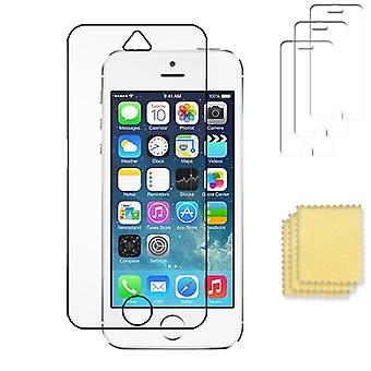 3-Pack Apple iPhone 5/5S/SE Protetor de tela transparente + Putsduk