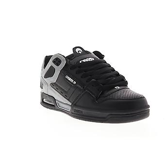 Osiris Peril Mens Gray Leather Athletic Lace Up Skate Shoes