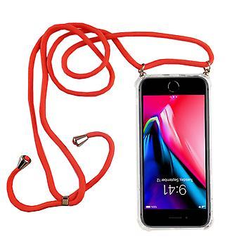 Handykette für Apple iPhone 7 Plus / 8 Plus - Smartphone Necklace Hülle mit Band - Schnur mit Case zum umhängen in Pink