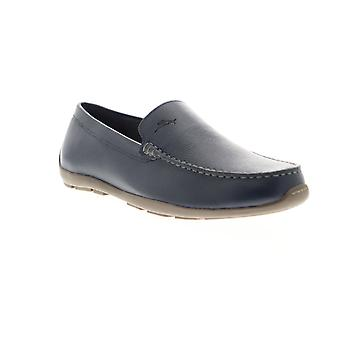 Tommy Bahama Amalfi  Mens Blue Leather Casual Loafers Shoes