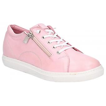 Hush Puppies Luna Ladies Leather Casual Trainers Pink