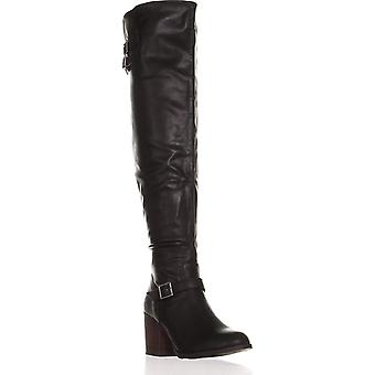Material Girl Womens Modiana Toe amêndoa joelho alta moda botas