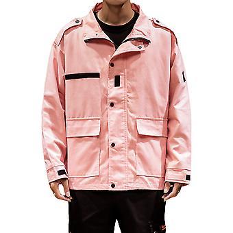 Allthemen Men's Casual Fashion 1980's Lapel Solid Jacket Top