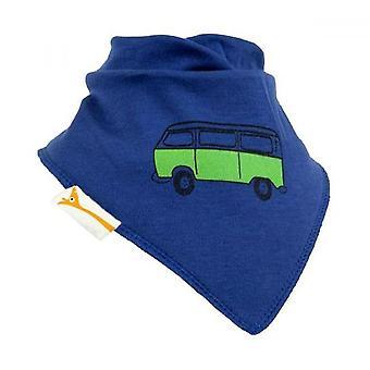 Blå & grön retro husbil bandana bib