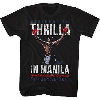 Amerikan Klasikleri Muhammed Ali Şampiyon Tişörtü - Siyah