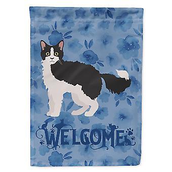 كارولينز كنوز CK4908CHF لا بيرم #1 القط ترحيب العلم قماش البيت حجم