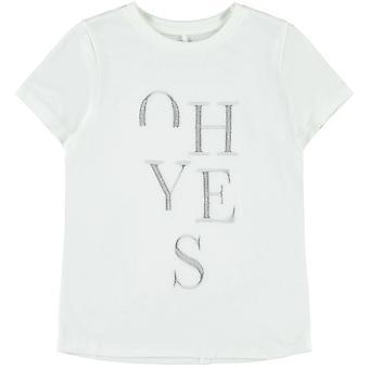 Camiseta de nome-it Girls Boanna Bright White