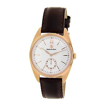 James And his JAS10091 805 - watch Leather Brown man
