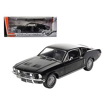 1968 Ford Mustang GT 2-2 Fastback Black Limited Edition 1 de 1800 Produit dans le monde 1/18 Diecast Model Car par Greenlight