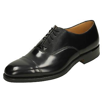 Mens Loake Black Leather Lace up shoe 747B