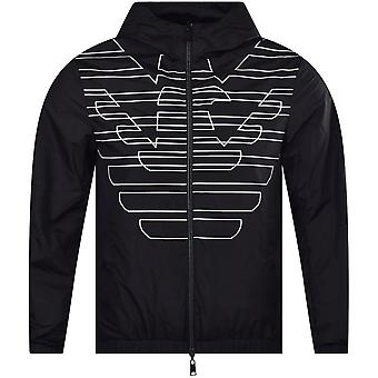 エンポリオアルマーニナイロンライトリバーシブルブラックジャケット