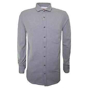 Gris Long Hugo Boss Hugo décontracté Boss homme Sleeved Shirt