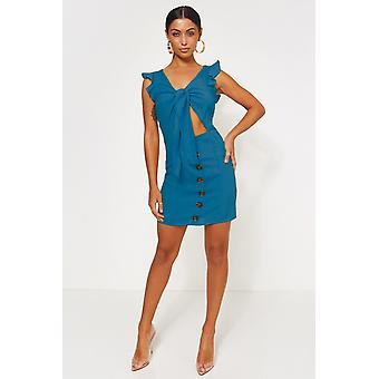 Lula Tie Front Button Dress