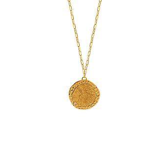 14k Yellow Gold Indian Medallion Back Design Adjustable Necklace 22 Inch Jewelry Gifts for Women